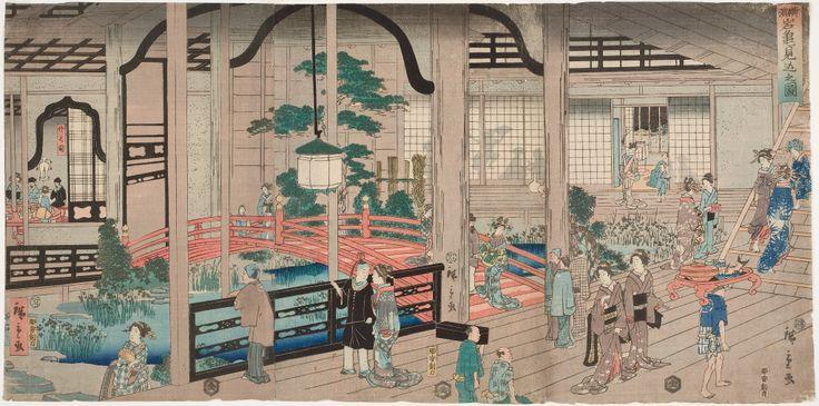 Yokohama Ganki mikomi no zu (A Peek at the Gankirô Brothel, Yokohama)