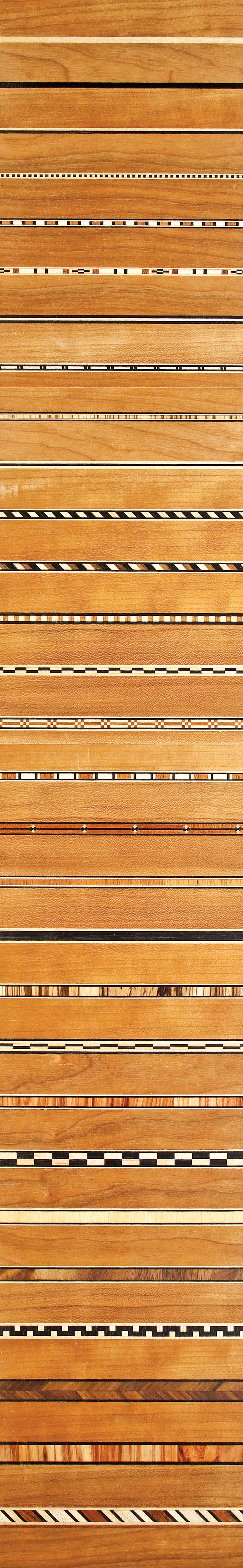 Patterned inlays - easier than you might think to add to a project as you might think if you have a router and some wood glue.