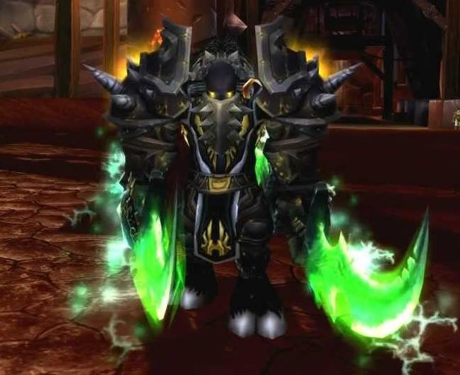 Tauren with Warglaives of Azzinoth  http://www.g2g.com/blog/gold-farming-with-new-account-or-buy-leveled-toon-which-is-better/