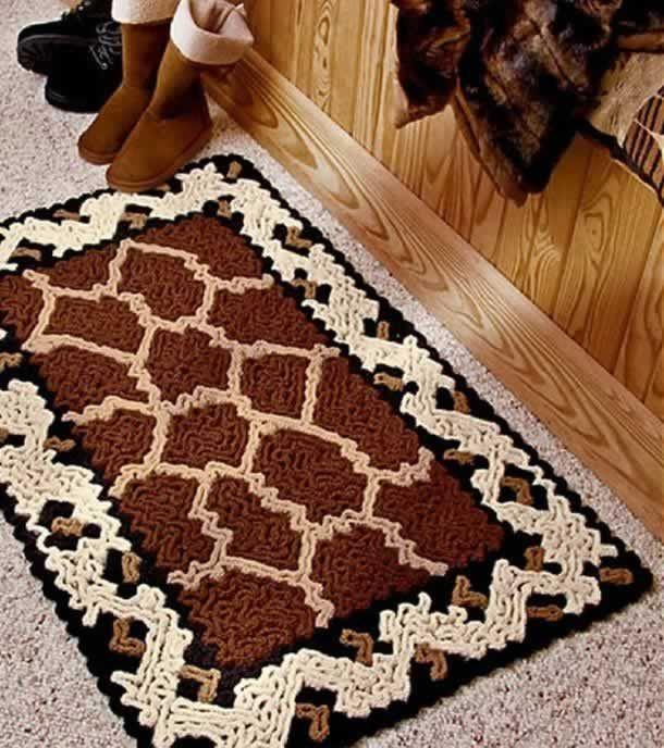 Tapete de barbantes! Como fazer um tapete com barbante, Gráficos, + de 34 lindas imagens de tapetes de crochê para Sala, Cozinha, Banheiro, Quarto e Portas.