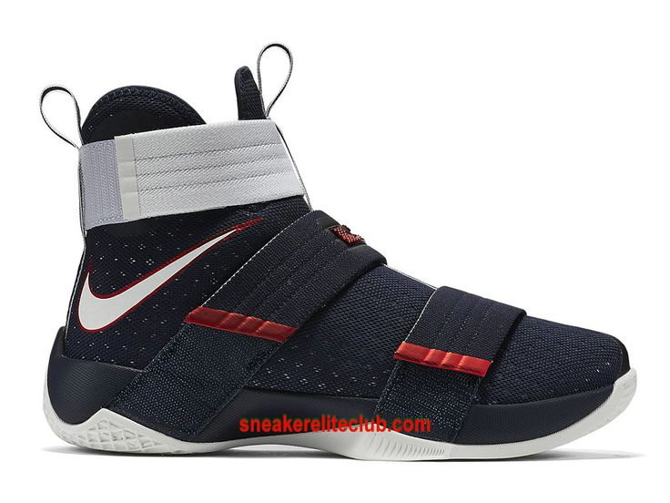 Nike Zoom LeBron Soldier 10 SFG EP USA Chaussure Pour Homme Bleu Blanc Rouge…