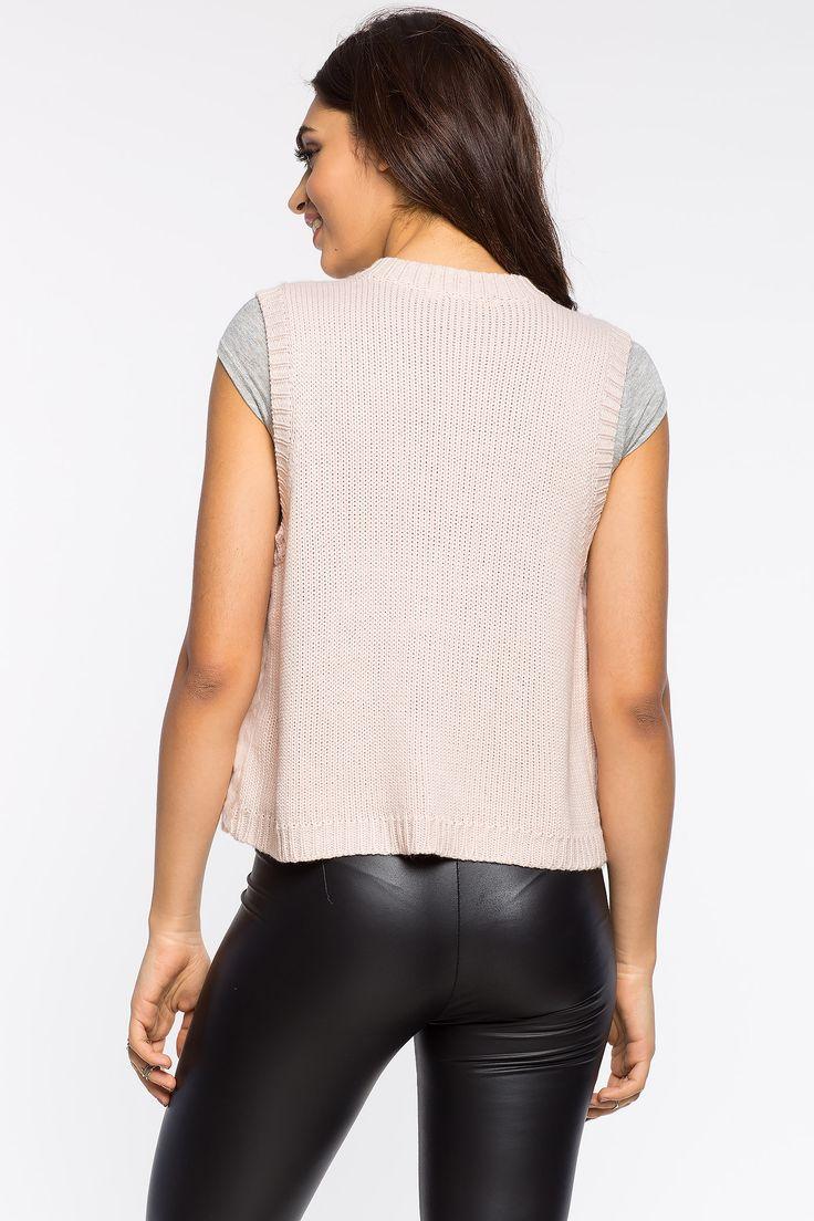 Жилет Размеры: S, M, L Цвет: кремовый, розовый Цена: 1829 руб.     #одежда #женщинам #жилеты #коопт