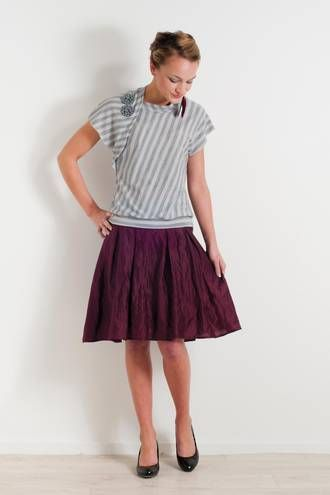 Heavy metal pleated skirt By www.chalkydigits.co.nz