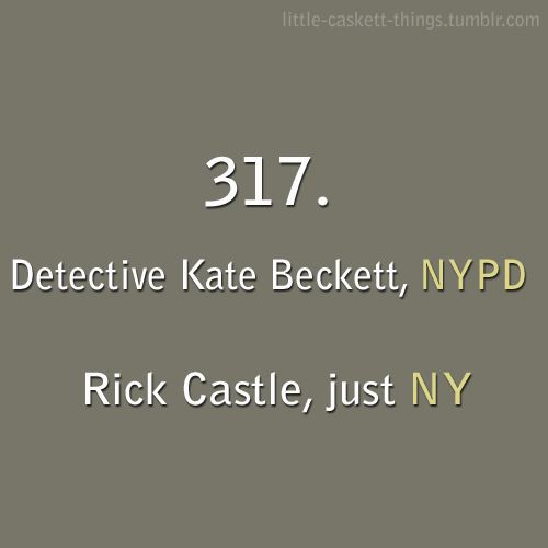 This is a blog about all the little things that we love about Castle and Beckett. You can send me...