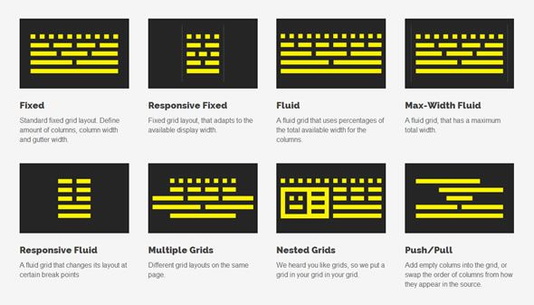 Profound Grid – A responsive grid system for fixed and fluid layouts