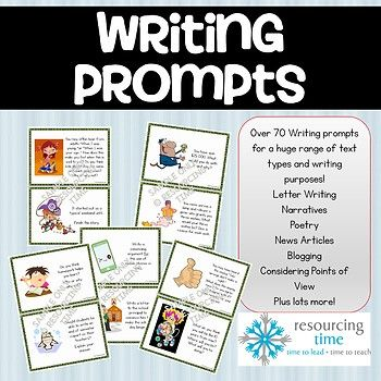 OVER 70 A5 (2 per page) WRITING PROMPT CARDS SUITABLE FROM YEARS 5 TO YEAR 8. These highly appealing and engaging writing prompt cards have been developed to provide stimulation and ideas for writing to entertain, writing to explain, writing to instruct, writing to recount, writing to socialise, writing to persuade and writing to describe.