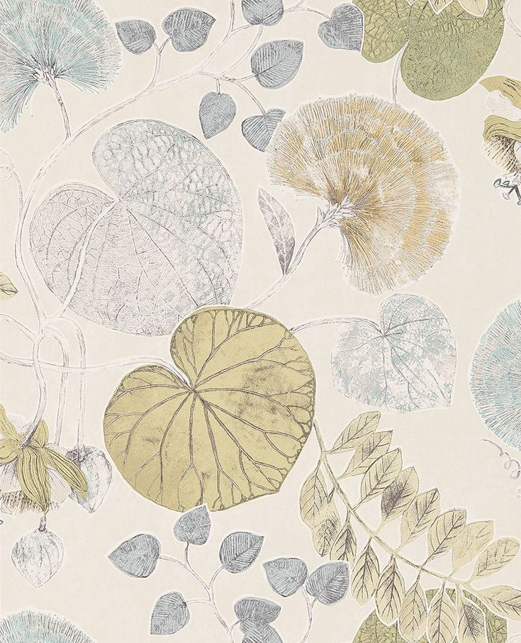 Dardanella Ink/Chartreuse wallpaper by Harlequin