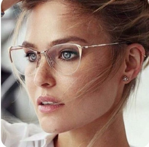 $50 Cool Cute Original Alternative On Trend Clear Rimless Glasses With Gold Frames Spring Summer Fashion Accessory Trends