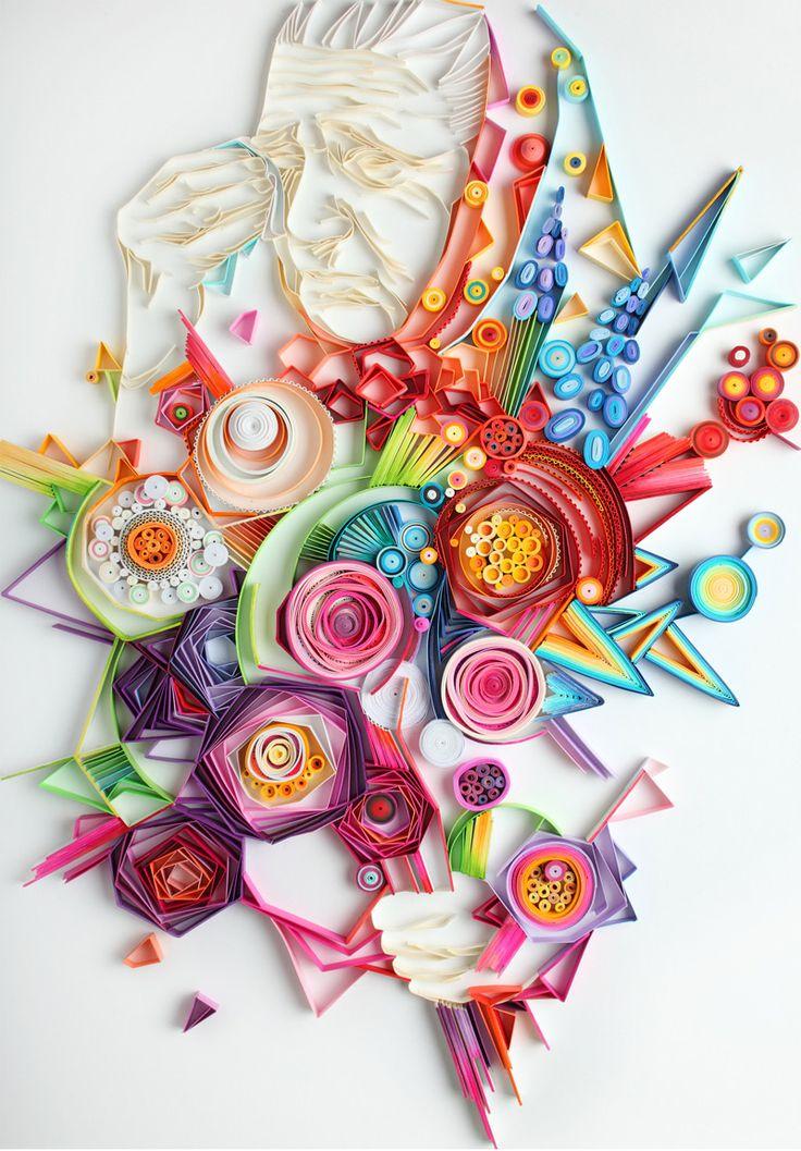 [Inspirations du Studio] - Création colorée en papier #colors #oeuvre #creation
