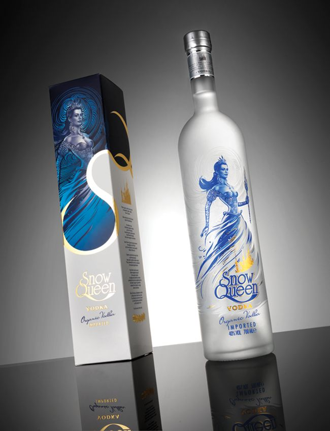 Packaging of the World: Creative Package Design Archive and Gallery: Snow Queen Vodka (Redesigned)