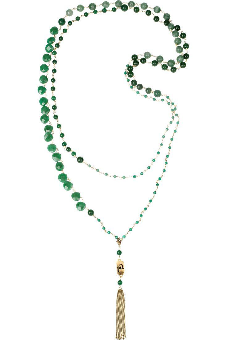 ROSANTICA Rosarietto 24-karat gold-plated jade necklace $525