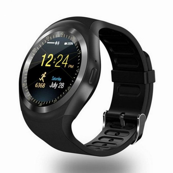 Smart Watch Round Black Color Nano SIM Card With Whatsapp Facebook for iphone Android Get more information Call us +1 (713) 780-8463 or email us malik@bmwatch.com, TX 77036