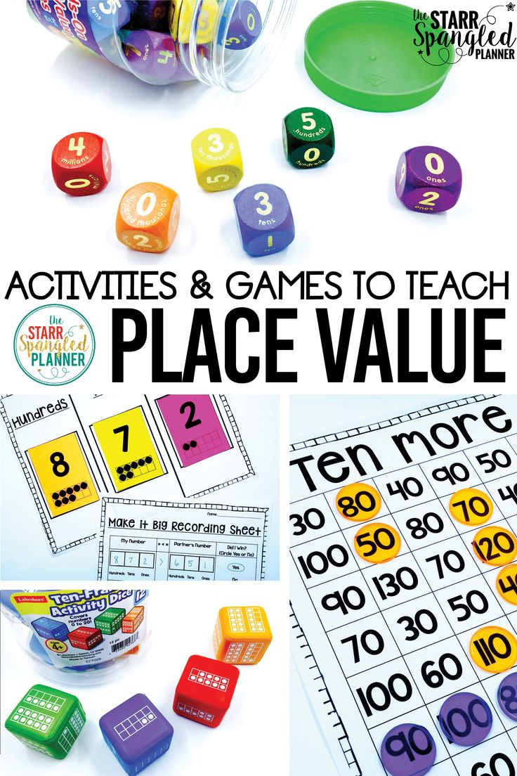 I can't wait to try ALL of these place value activities and games in my math centers! There are so many ideas for how to teach place value, I'm just going to have a hard time choosing which to try first!