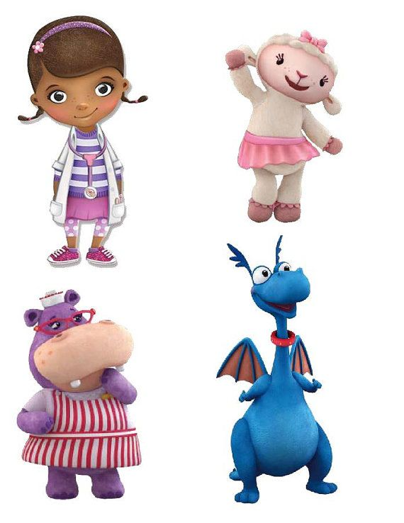 DIGITAL Doc McStuffins centros de mesa por MountainViewCreation