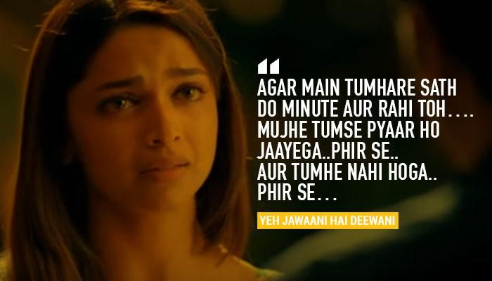 11 Unforgettable Deepika Padukone Dialogues That Prove She S The Queen Of Versatility Bollywood Love Quotes Yjhd Quotes Bollywood Quotes