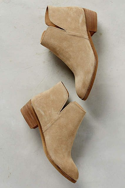Splendid Hamptyn Booties - anthropologie.com - cute sand colored suede booties...