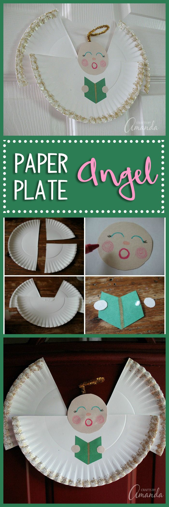 Paper Plate Angel learn how to