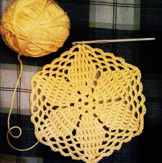 Hexagon flower - Free pattern