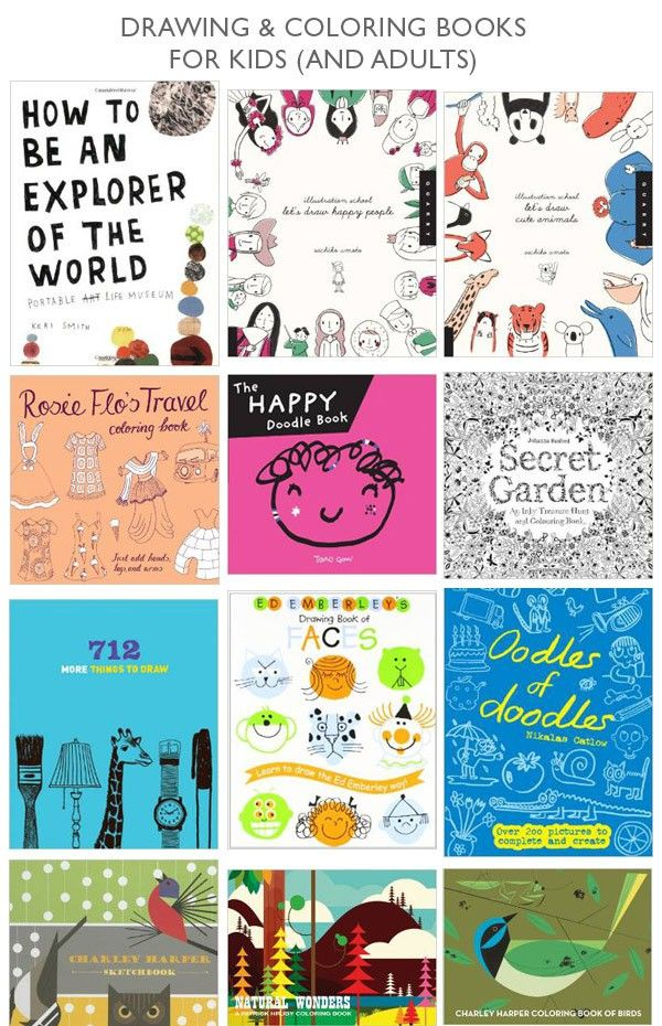 Drawing and coloring for kids (and adults)- tons of ideas