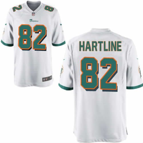 Brian Hartline Jersey Miami Dolphins #82 Youth White Limited Jersey Nike NFL Jersey Sale