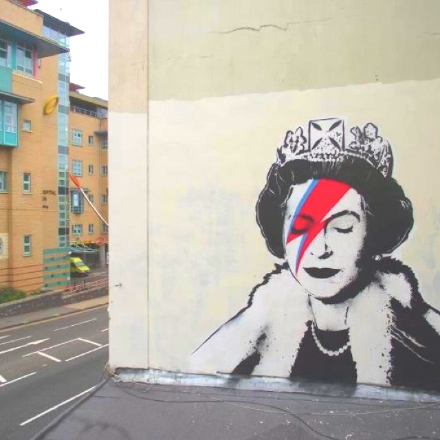 Banksy new work to celebrate the Jubilee! Inspired!