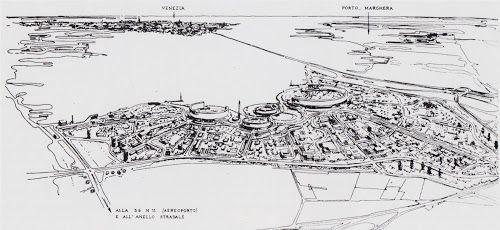 Ludovico Quaroni, Progetto di concorso Cep per le Barene di San Giuliano, Venezia-Mestre, 1958