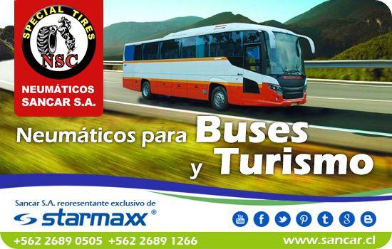 Neumáticos para Buses Estable en pavimento, excelente comportamiento en carretera y cuidad, desarrollado especialmente para carga. Representante Exclusivo en Chile de Starmaxx Neumáticos Sancar, Todos en un solo lugar. http://www.sancar.cl/ | ventas@sancar.cl +56226890505 | +56226891266