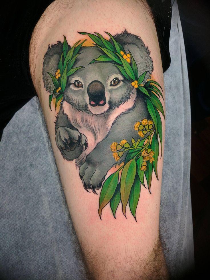 Koala by Crispy Lennox @ The Black Mark Tattoo Melbourne Australia