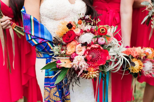 Fiesta-inspired wedding done well. | Green Wedding Shoes | Lauren Fair Photography