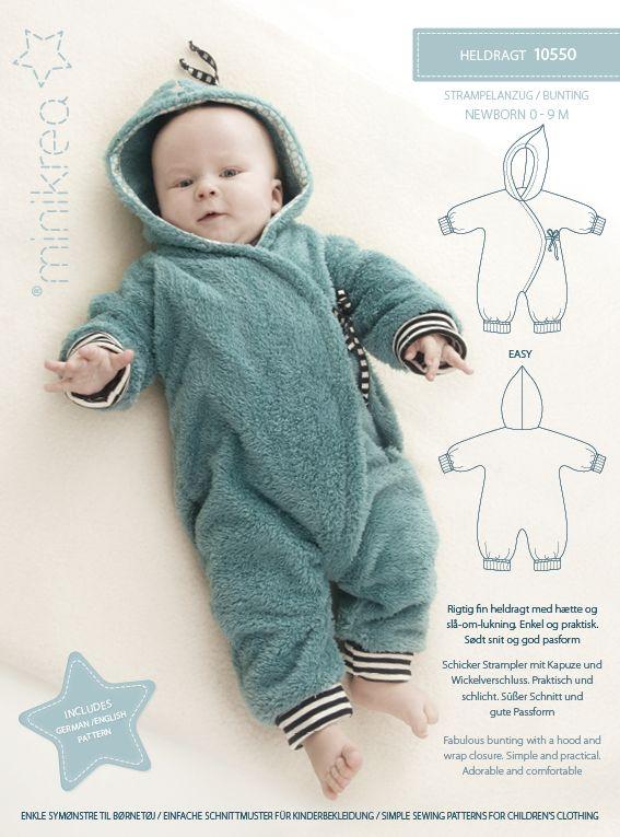 Schnittmuster Babyoverall   – Nähen für Babys