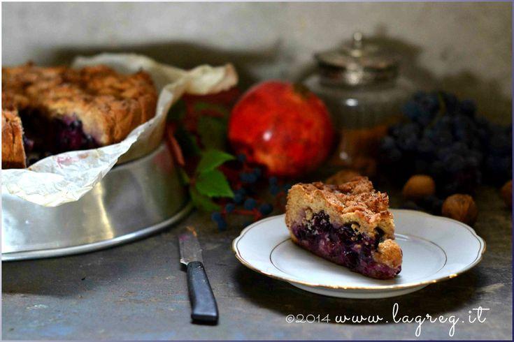 La torta Bertolina | Double crust concord grape pie