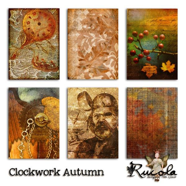 by Rucola Designs  Deviant Scrap :: What's New :: Clockwork Autumn http://www.mischiefcircus.com/shop/product.php?productid=19540