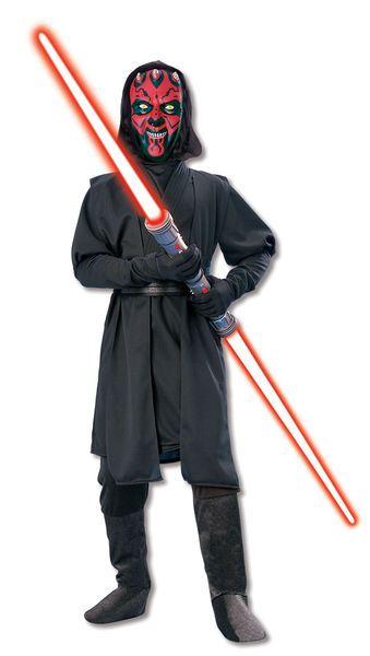 Lasten Naamiaisasu; Darth Maul Deluxe  Lisensoitu Star Wars Darth Maul Deluxe asu. Olkoon voima kanssasi. #naamiaismaailma
