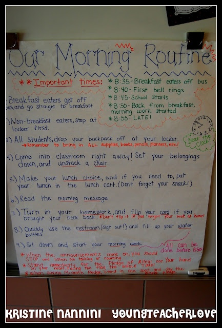 Classroom Routine Ideas ~ Best images about k morning routine on pinterest