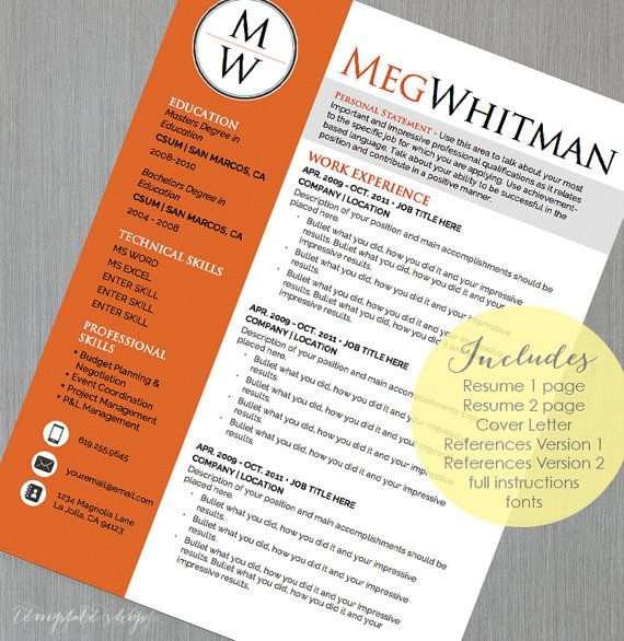 19 best Resume Templates images on Pinterest Cv resume template - microsoft word reference letter template