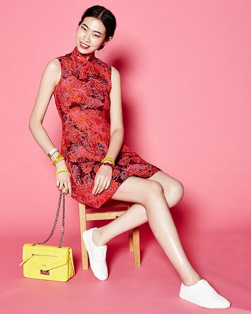brocade cheongsam, 8 modern ways to wear a cheongsam, without heels!