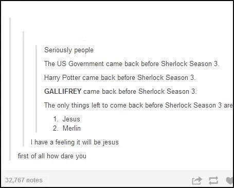 Oh Sherlock...