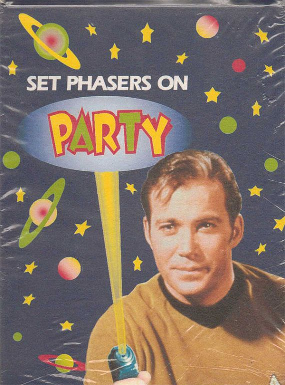 vintage Star Trek birthday party invitations