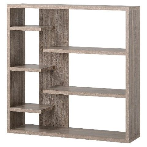 Homestar Wide 6-Shelf Hollow Core Bookcase