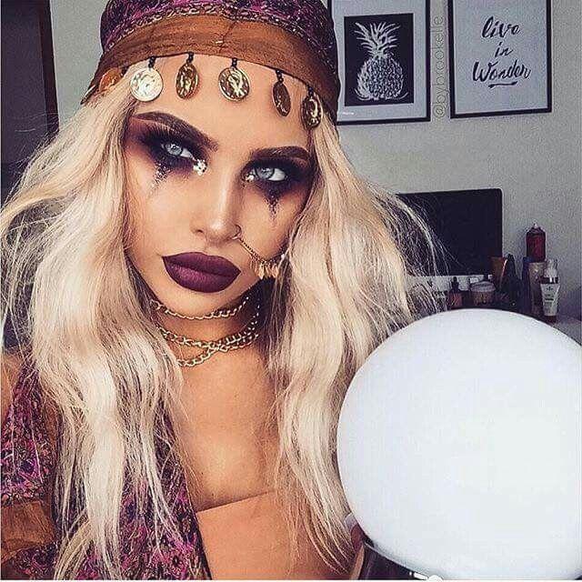 Crystal ball Psychic reader make up