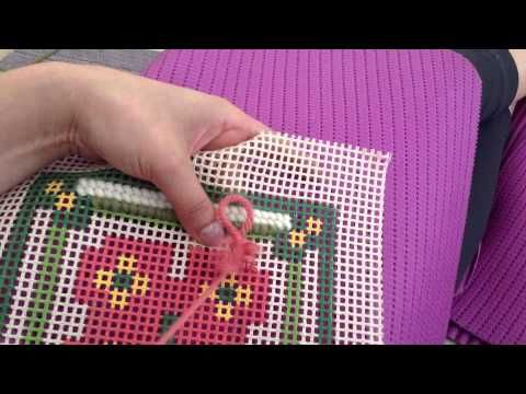 Mulher.com - 07/03/2016 - Ponto rosinha em tapeçaria - Ana Maria…