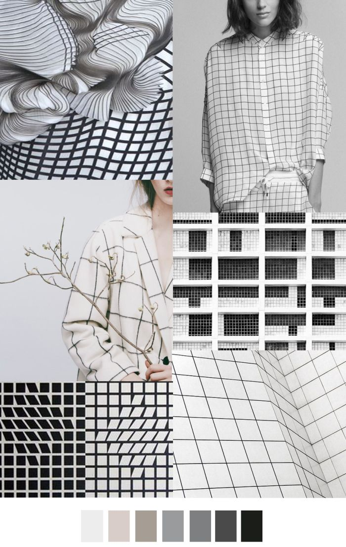 FASHION VIGNETTE: TRENDS // PATTERN CURATOR . PRINT, PATTERN + COLOR - LICHEN LUXE/GRID LOCK