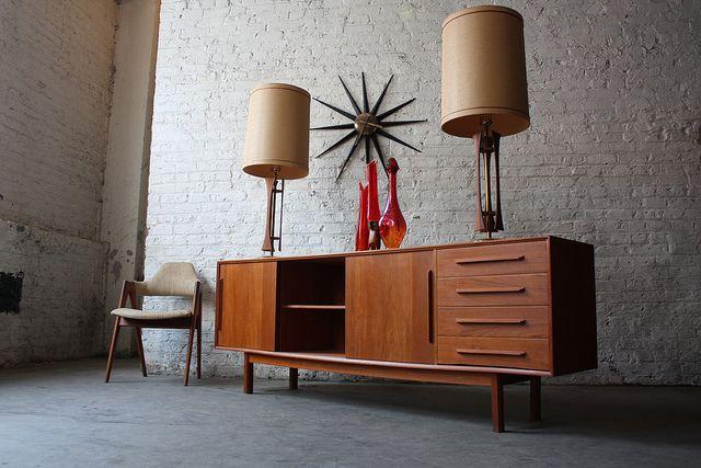 Astounding Danish Mid Century Modern Dyrlund Teak Credenza (Denmark, 1962) by Kinzco, via Flickr
