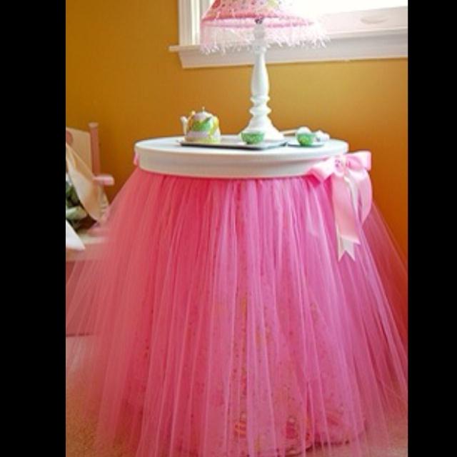 Ballerina style bedside table for little girl's bedroom. So precious!