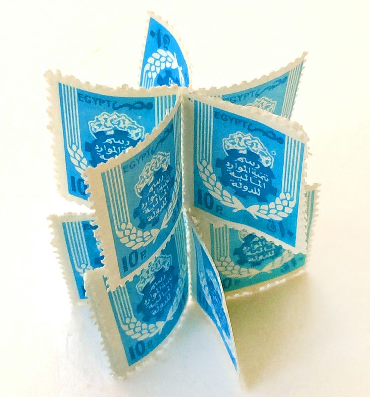 Karima Khalil: In many ways a letter is like a flower, a gift. This stamp-flower evokes a letter's promise...