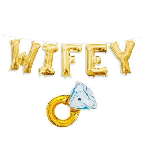 Wifey Balloons,Wifey Silver Letter Balloons,Wifey Letter Balloons,Wifey Hubby Balloons,Wife To Be Balloons,Will You Marry Me Balloons