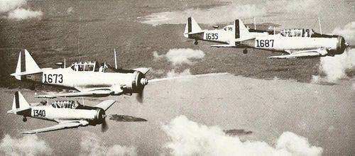 http://www.ww2incolor.com/brazil/Brazilian Air Force used hundreds of North American T-6 from WWII to the 80__s.html