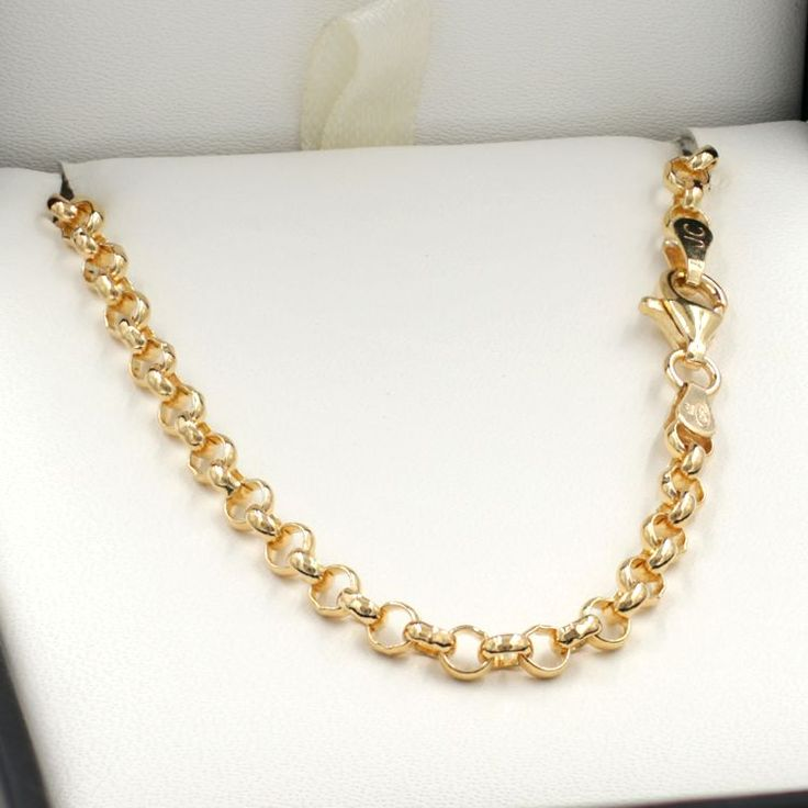 40cm Yellow Gold Belcher Chain Necklace - GN-B2