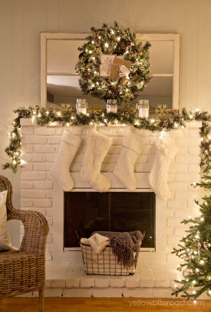 25+ unique Christmas mantel decor ideas on Pinterest Christmas - christmas mantel decor