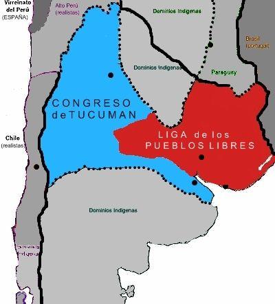 Mapa ARGENTINA 1816 - José Gervasio Artigas - Wikipedia, la enciclopedia libre